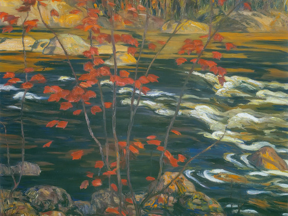 The Red Maple by Aj Jackson Print