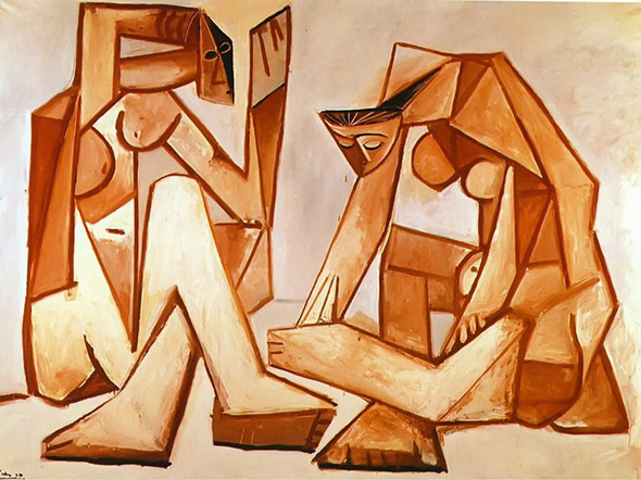 Two Women On The Beach92x73 by Picasso Print
