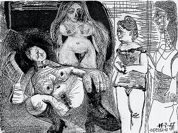 Untitled1 by Picasso 2 Print