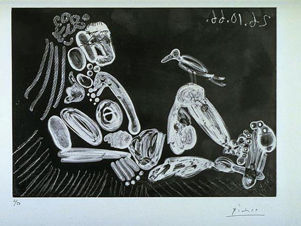 Woman With Bird by Picasso Print