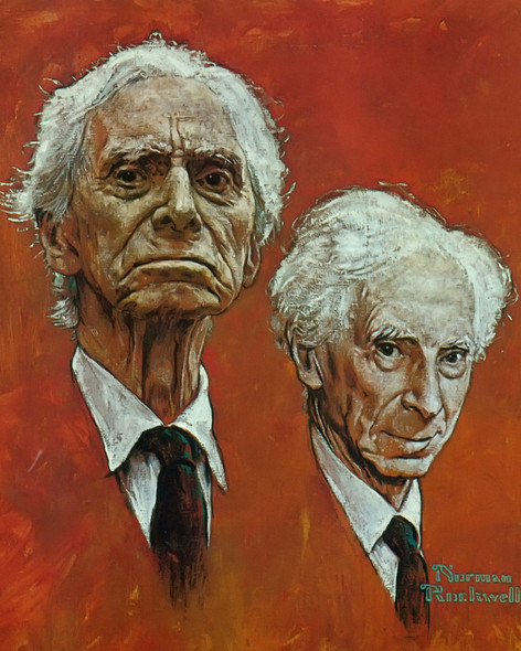 Bertrand Russell by Norman Rockwell Print