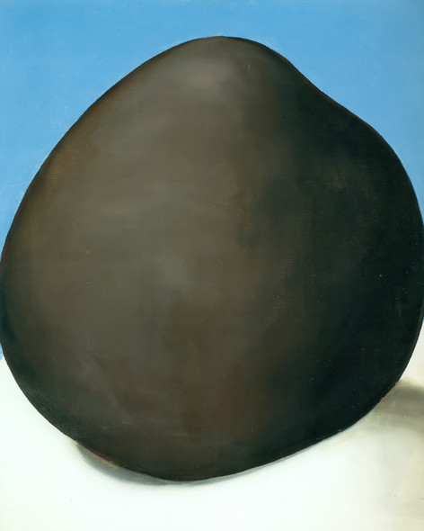 Black Rock With Blue Iii by Georgia O Keeffe Print