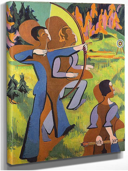 Archers 1937 By Ernst Ludwig Kirchner