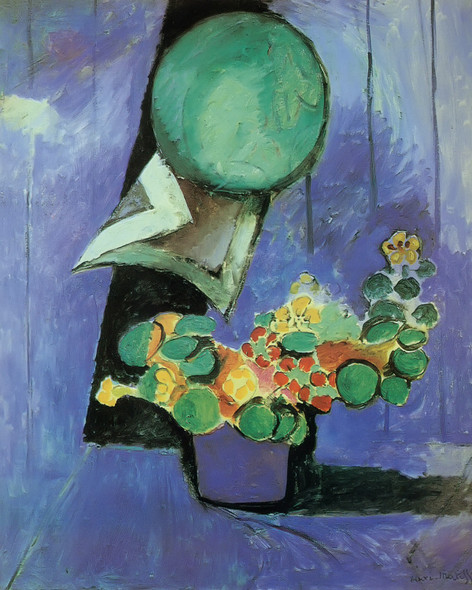 Flowers And Ceramic Plate by Henri Matisse Print