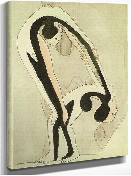 Arcrobats By Ernst Ludwig Kirchner