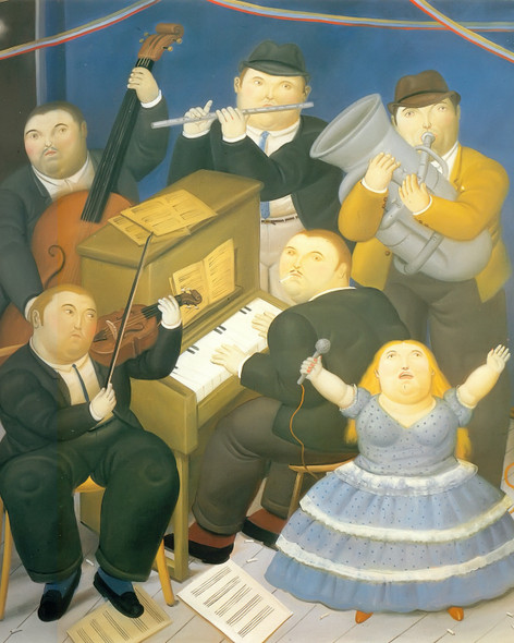 The Orchestra by Botero Print