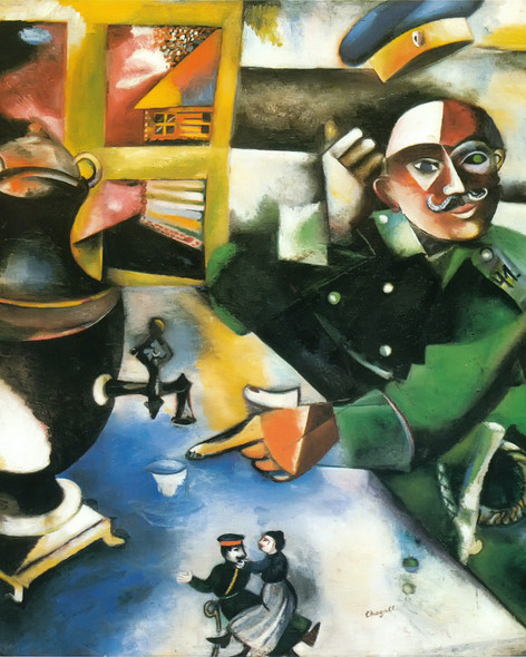 The Soldier Drinks by Marc Chagall 2 Print