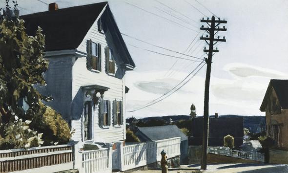 Adams House by Edward Hopper Print