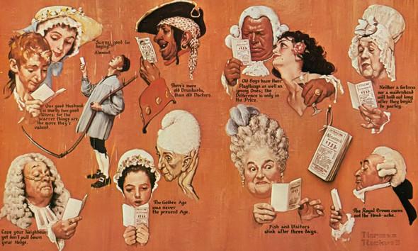 Almanac Scenes by Norman Rockwell Print