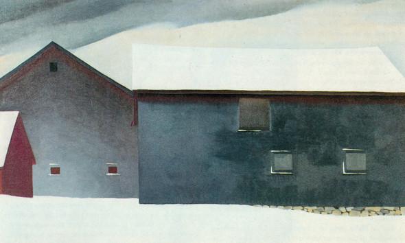 Barn With Snow 1933 by Georgia O Keeffe Print