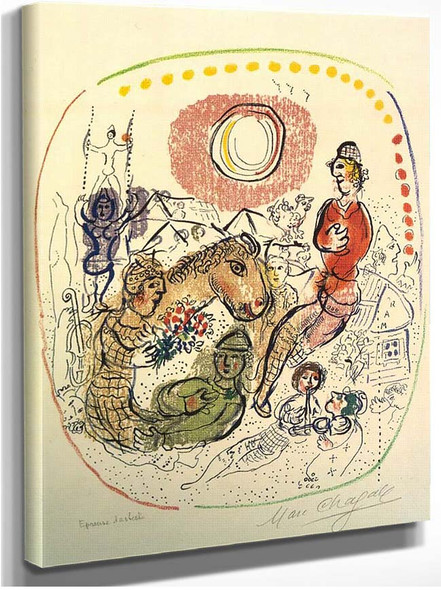 Arlequins Playing 1968 By Marc Chagall