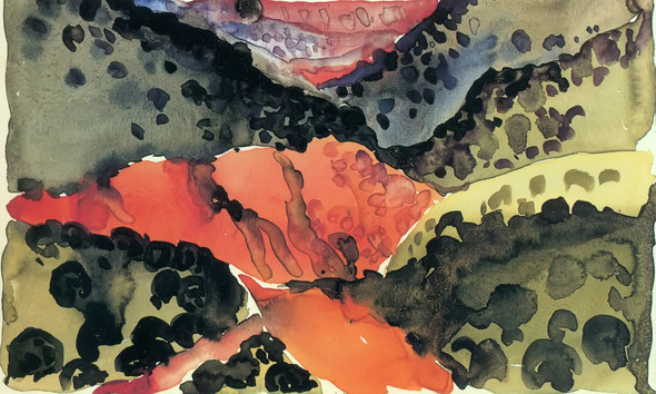 Canyon With Crows by Georgia O Keeffe Print