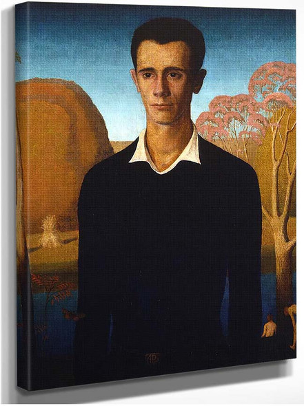 Arnold Comes Of Age 1930 By Grant Wood