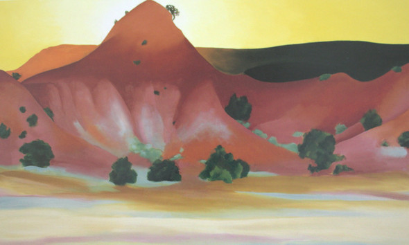 Hills And Mesa To The West by Georgia O Keeffe Print