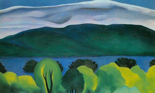 Lake George Blue by Georgia O Keeffe Print