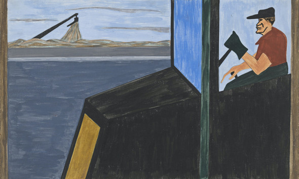Migration Panel 2 The World War Had Caused A Great Shortage In Northern Industry And Also Citizens Of Foreign Countries Were Returning Home by Jacob Lawrence Print