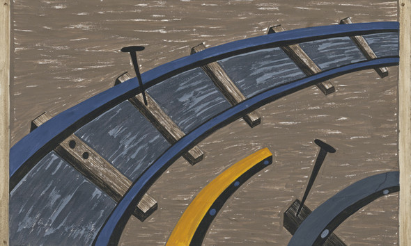 Migration Panel 38 They Also Worked In Large Numbers On The Railroad by Jacob Lawrence Print