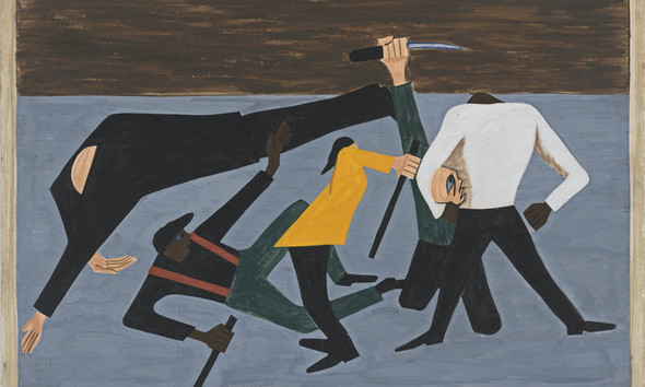Migration Panel 52 One Of The Largest Race Riots Occurred In East St Louis by Jacob Lawrence Print