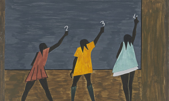 Migration Panel 58 In The North The Negro Had Better Educational Facilities by Jacob Lawrence Print