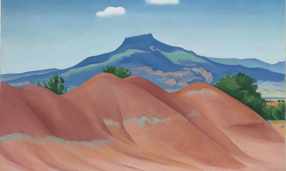 Red Hills by Georgia O Keeffe Print