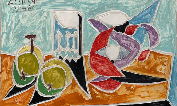 Still Life Fruits And Pitcher by Picasso Print