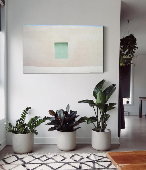 Wall With Green Door by Georgia O Keeffe