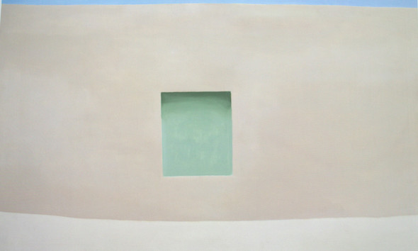 Wall With Green Door by Georgia O Keeffe Print