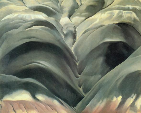 Black Place No 1 1944 by Georgia O Keeffe Print