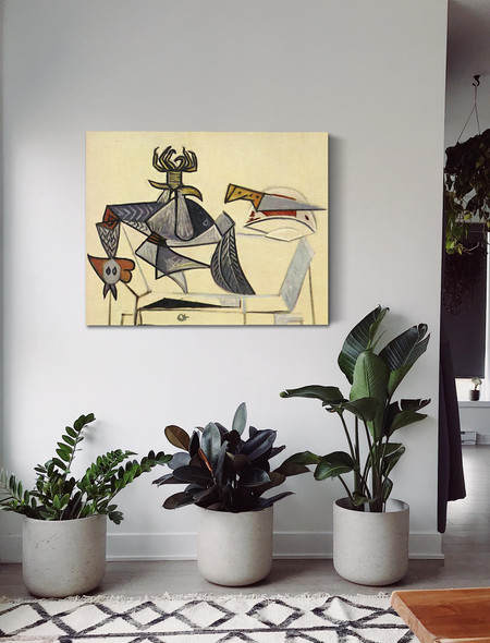 Cock And Knife 73x92 by Picasso