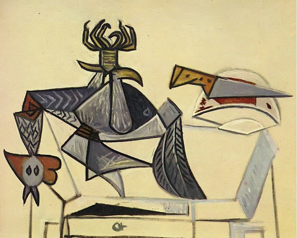 Cock And Knife 73x92 by Picasso Print