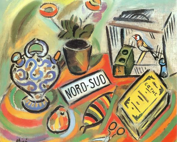 North South1917 by Joan Miro Print