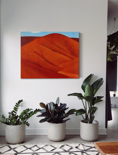 Red Hills. With White Cloud by Georgia O Keeffe