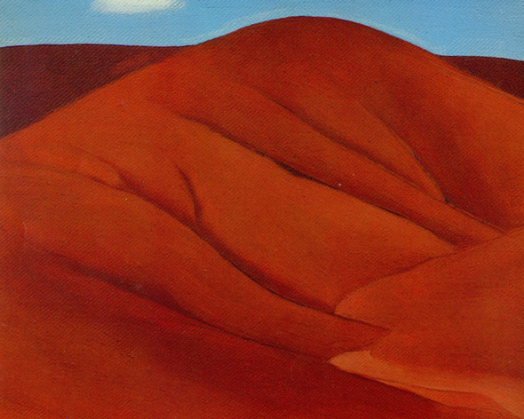 Red Hills. With White Cloud by Georgia O Keeffe Print
