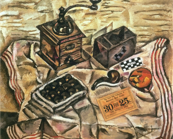 Still Life With Coffee Mill 1918 by Joan Miro Print