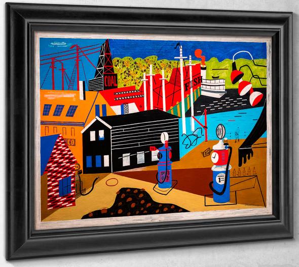 Landscape with Garage Lights by Stuart Davis