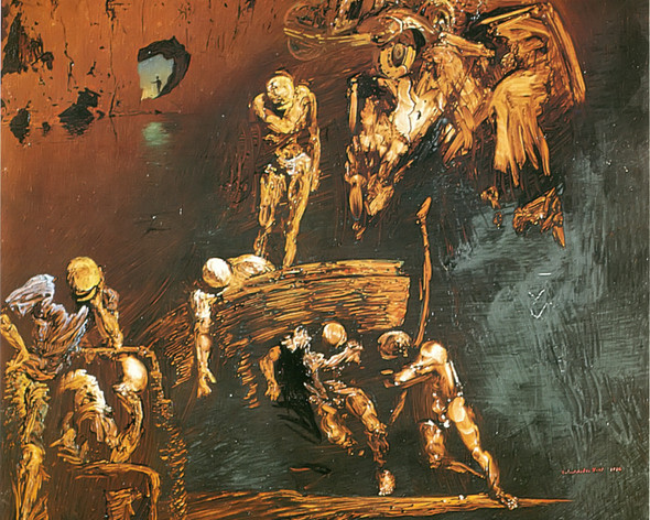 The Fossil Care From Cape Of Crous by Dali Print