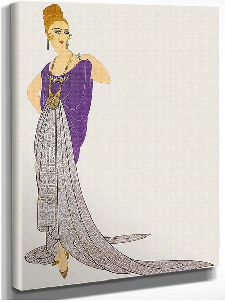 At The Ball By Erte