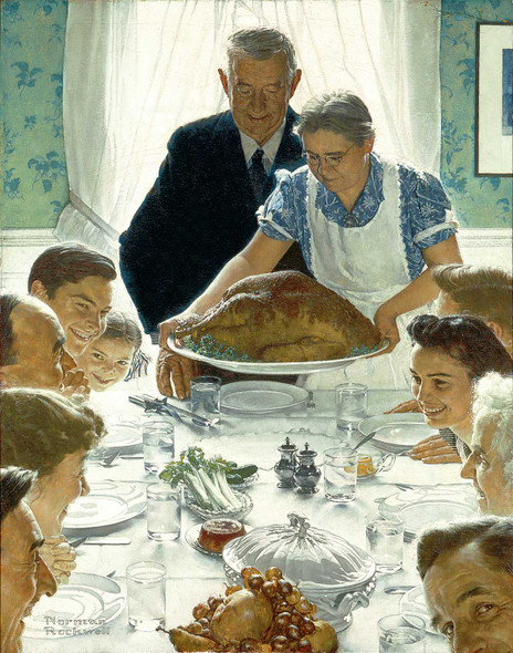 Freedom From Want 1943 By Norman Rockwell