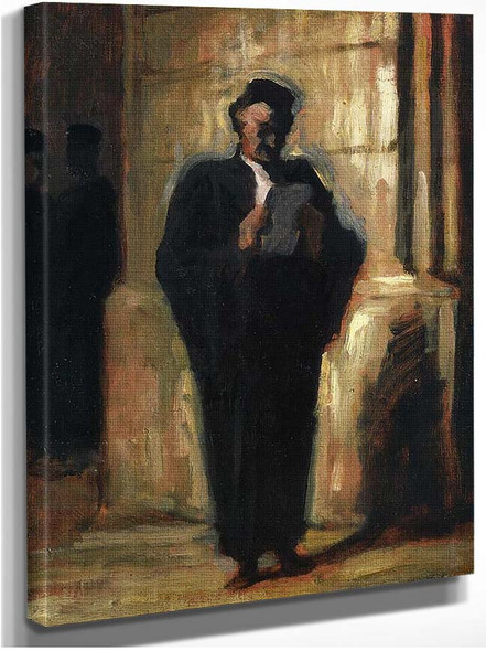 Attorney Reading By Daumier Honore