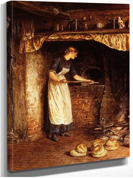 Baking Bread By Helen Allingham