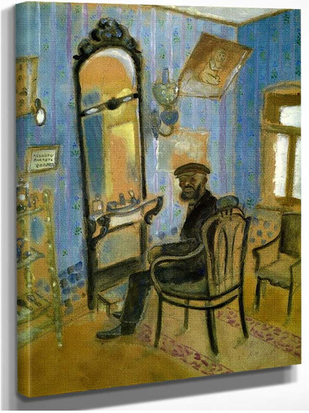 Barber S Shop Uncle Zusman 1914 By Marc Chagall