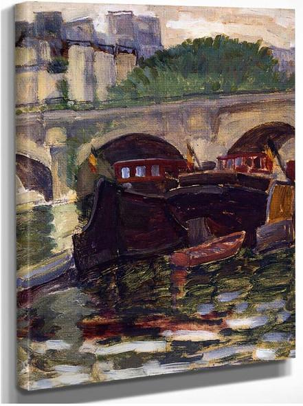 Barges By Henri Edmond Cross