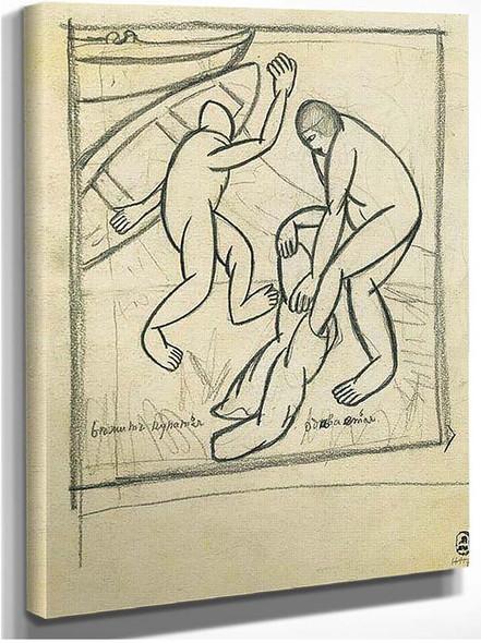 Bathers 1911 By Kazimir Malevich