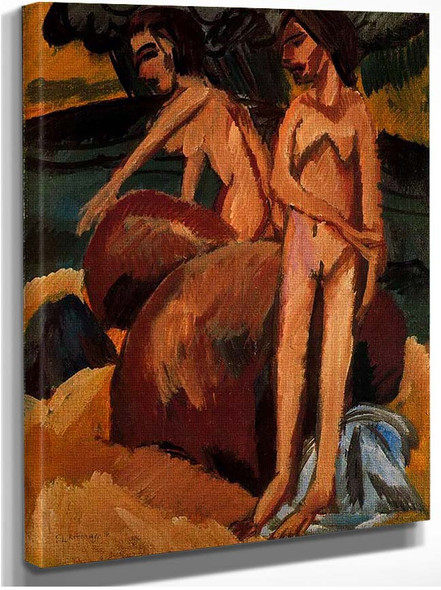Bathers At Sea By Ernst Ludwig Kirchner