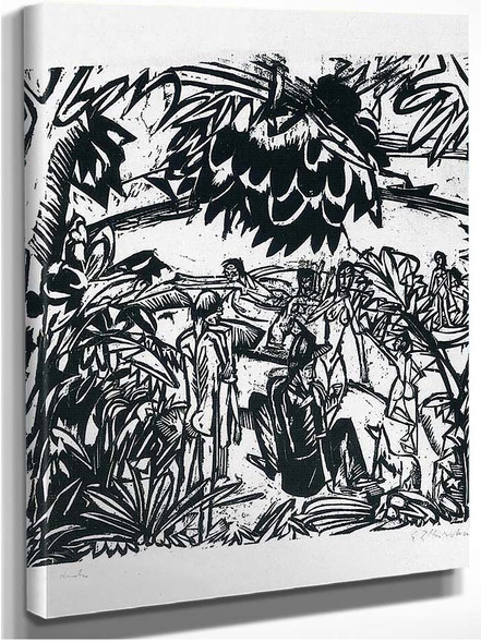 Bathers Under Trees By Ernst Ludwig Kirchner