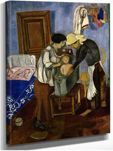 Bathing Of A Baby By Marc Chagall