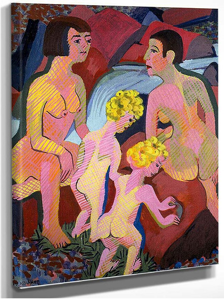 Bathing Women And Children 1932 By Ernst Ludwig Kirchner