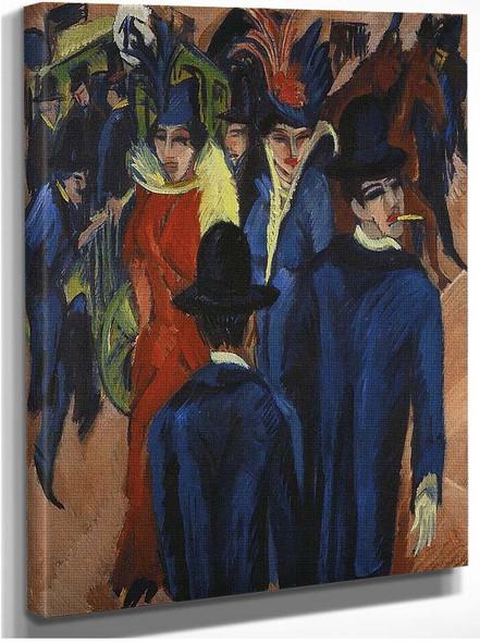 Berlin Street Scene 1914 By Ernst Ludwig Kirchner