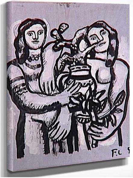 Birthday Two Women 1950 By Fernand Leger
