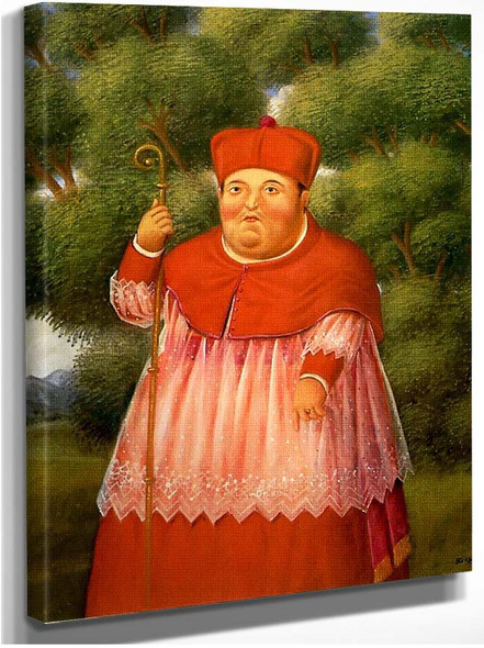 Bishop In The Woods By Fernando Botero